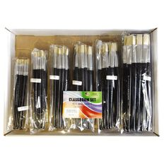 Fivestar Chinese Bristle Flat 577 Brush Classroom 144 Set