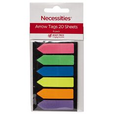 No Brand Arrow Tags 20 Sheets 6 Pack