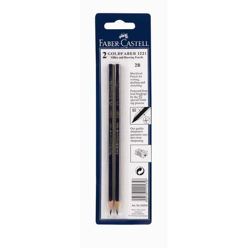 Faber-Castell 2B Goldfaber Lead Pencils 2 Pack Black