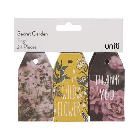 Uniti Secret Garden Tag 24pc