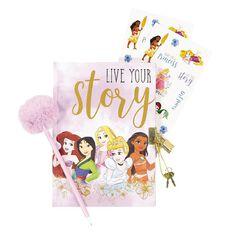 Disney Princess Secret Lockable Diary With Pen Purple A5