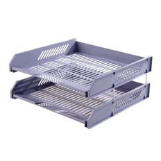 Impact Letter Tray 2 Pack Grey
