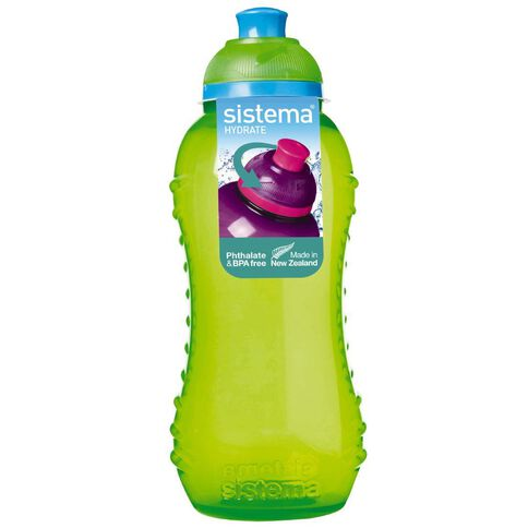 Sistema Round Drink Bottle with Twist Cap 330ml Assorted