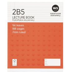WS Lecture Book 2B5 7mm Ruled Hardcover 94 Leaf Red