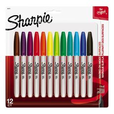 Sharpie Fine Point Permanent Marker Fashion 12 Pack Assorted