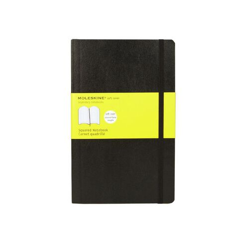 Moleskine Classic Soft Cover Large Notebook Squared Black