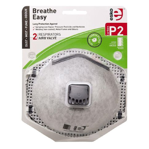 Esko P2 Respirator with Valve & Carbon Filter 2 Pack