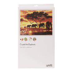 Uniti Crystal Art 35 x 45cm Elephants
