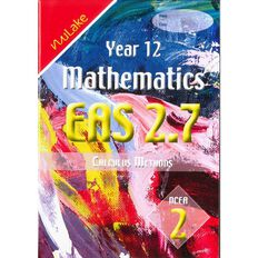 Nulake Year 12 Mathematics Eas 2.7 Calculus