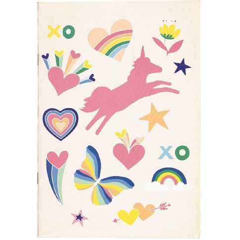 Kookie Rainbow Unicorn Exercise Book A5