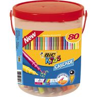 Bic Cascade Felts Bucket of 80 80 Pack