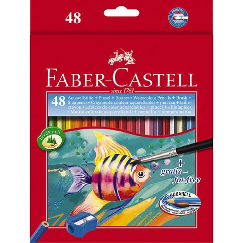 Faber-Castell Colour Pencils Watercolour Full Multi-Coloured 48 Pack