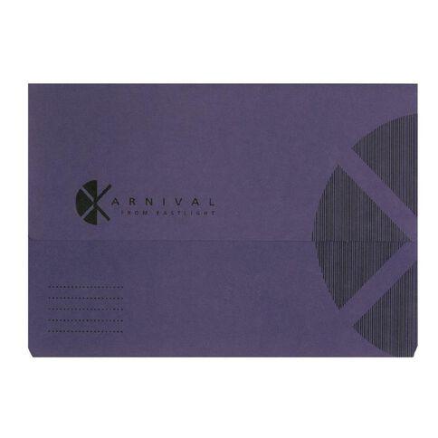 Eastlight Document Wallet Foolscap Expanding Karnival Violet