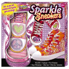 Creative Kids Pom Pom World Sparkle Sneakers