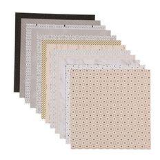 Uniti Designer Paper 12x12in 12 Sheets Neutrals Foils