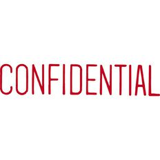 Xstamper Stamp Confidential Red