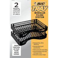 Bic Letter Trays 2 Pack Black