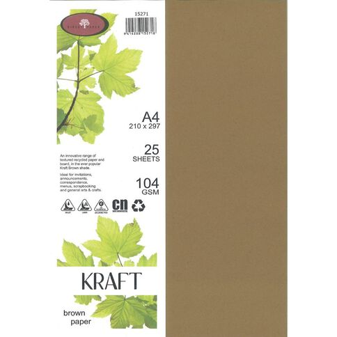 Direct Paper Enviro Paper 104gsm 25 Pack Kraft Brown A4
