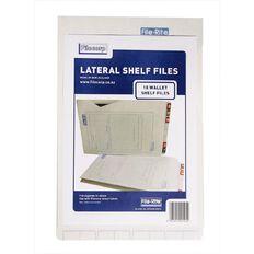 Filecorp 2014 Wallet Shelf File 10 Pack White