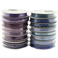 Rosie's Studio Everyday Ribbon 3m Blue / Purple Assorted Assorted