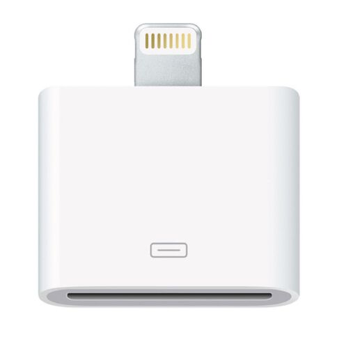 Apple Lightning To 30Pin Adapter White