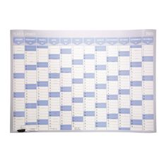 Impact 2020 Year Planner Laminated Card & Whiteboard Marker 1000 X 700mm