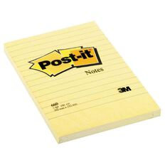 Post-It Lined Notes 660 98.4mm x 149mm Yellow