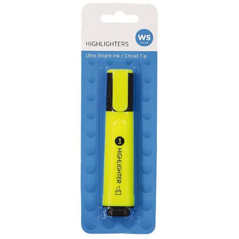 WS Highlighter Single Yellow