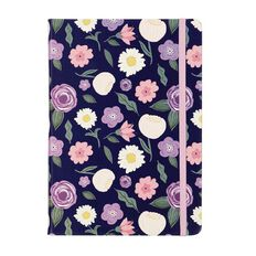 Uniti Blossom PU Notebook Flowers Purple A5