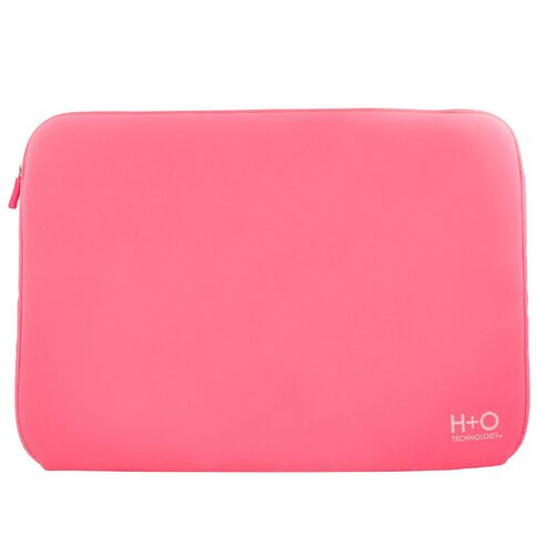 H+O Technology 15.6 Laptop Sleeve Pink