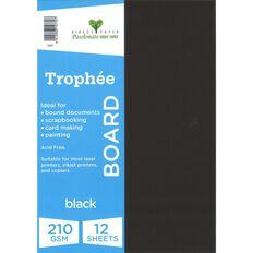Trophee Board 210gsm 12 Pack Black A4