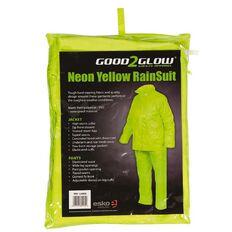 Esko Good2Glow Rainsuit Jacket and Pant Set Hi-Vis Yellow Large