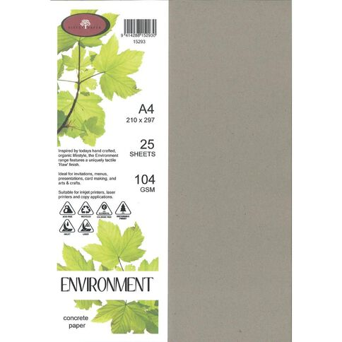 Direct Paper Enviro Paper 104gsm 25 Pack Concrete Grey A4