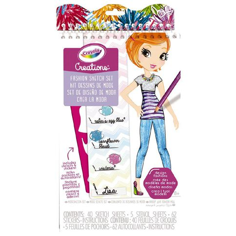 Crayola Creations Fashion Sketch Set