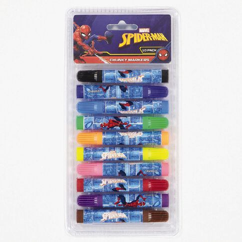 Spider-Man Markers 10 Pack