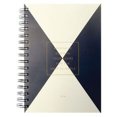 2018 Diary Day To Page Workspace Triangle Wiro Blue/White A5
