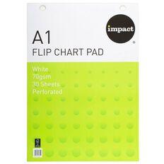 Impact Flip Chart Fsc 30 Sheet 70gsm White A1 White A1