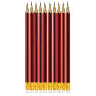 Impact Pencil Hb W/ Eraser Tip 10 Pack Black