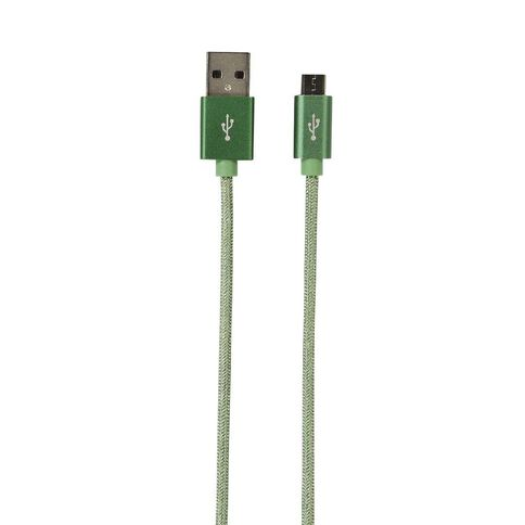 Conservatory Micro USB Cable Braided 1m Antique Green