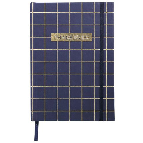 Impact PU Notebook Things To Do Gold Foil A5