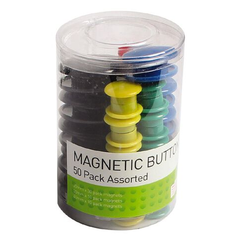 Impact Magnetic Buttons Assorted 50 Pack