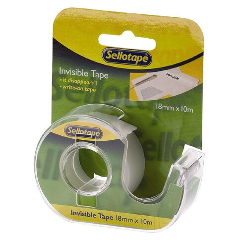 Sellotape Sellotape Invisible Tape On Dispenser 18mm x 10m Clear