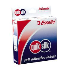 Quik Stik Labels Labels Ring Eyelets 200 Pack White