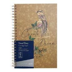 Uniti Platinum Visual Diary Spiral Create Dream Inspire A4