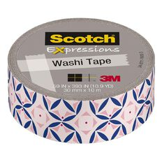 Scotch Washi Craft Tape 15mm x 10m  Pastel Pink Mosaic