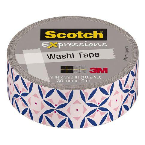 Scotch Washi Craft Tape 15mm x 10m  Pastel Pink Mosaic