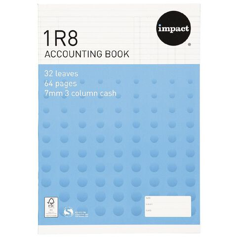 Impact Exercise Book 1R8 3 Column Ruled 32 Leaf Blue