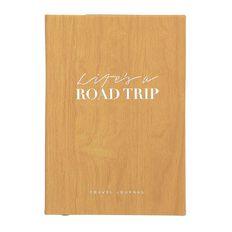 Uniti Life's A Road Trip Travel Journal Pu Hardcover Wood 140mm X 200mm