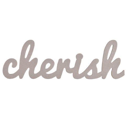 Rosie's Studio Chipboard Word Cherish 45cm x 14cm