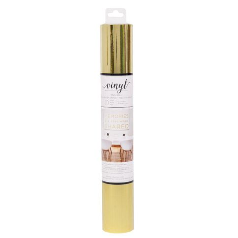 American Crafts Vinyl Gold Foil Adhesive Roll 12in x 48in